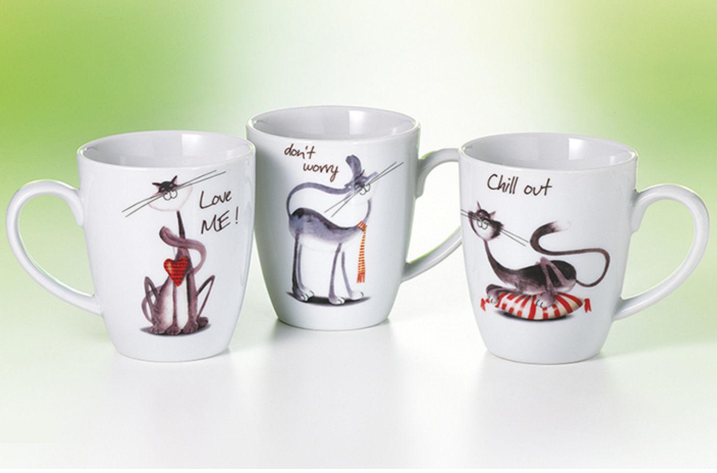 65ac8a7d1fe Tassen Set - Coole Katzen - - TeeTopf